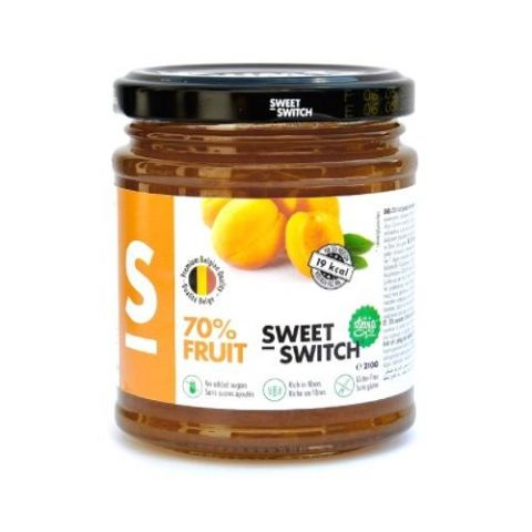 Apricot 70% Fruit Diabetic Jam No Added Sugar Free Stevia SWEET SWITCH 210g